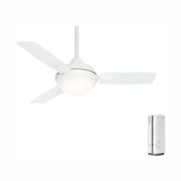 Verse 44 in. LED Indoor/Outdoor Fresh White Ceiling Fan with Remote