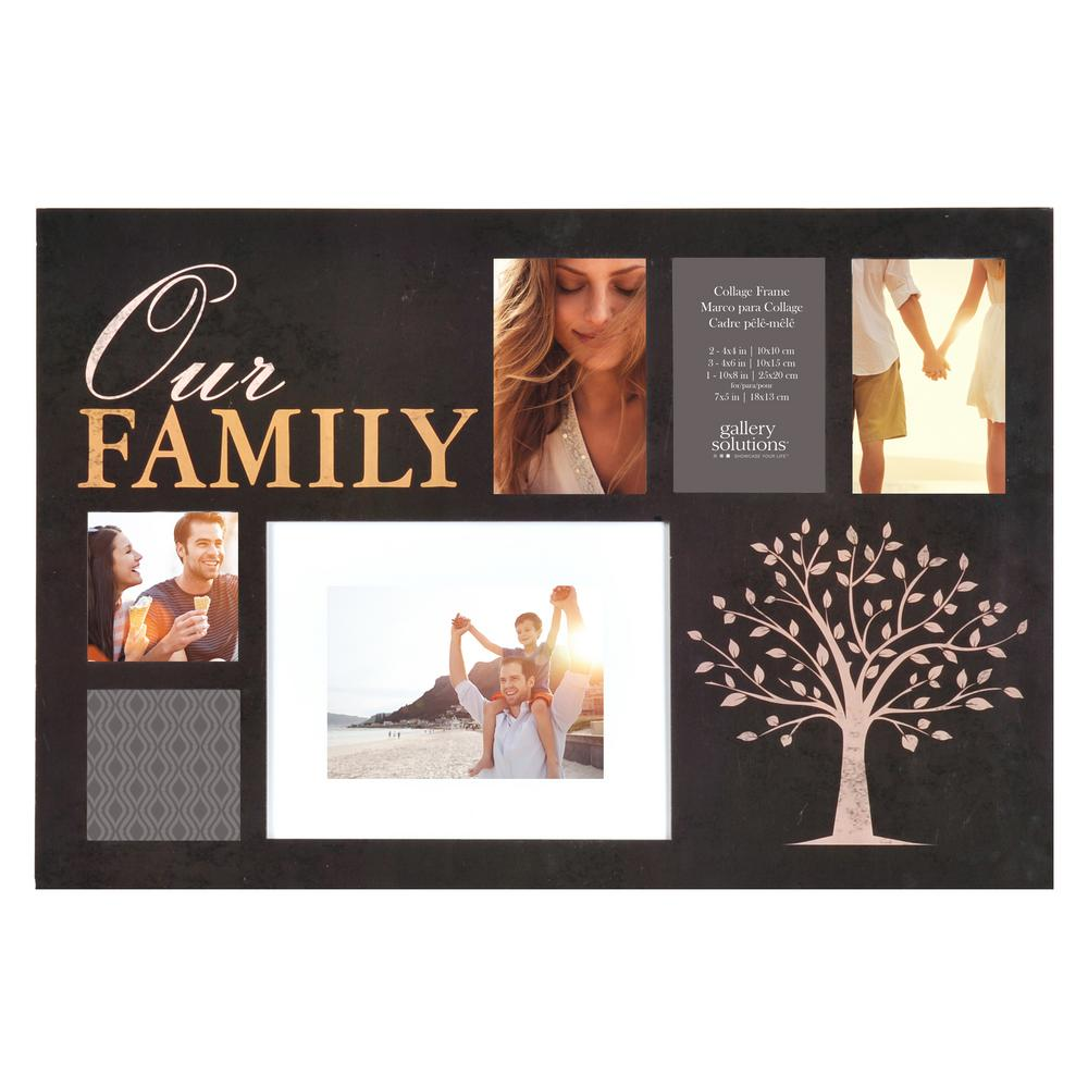 Pinnacle 6-Opening 4 in. x 6 in. Family Picture Frame-14FW1262E ...