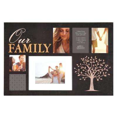 6-Opening 4 in. x 6 in. Family Picture Frame