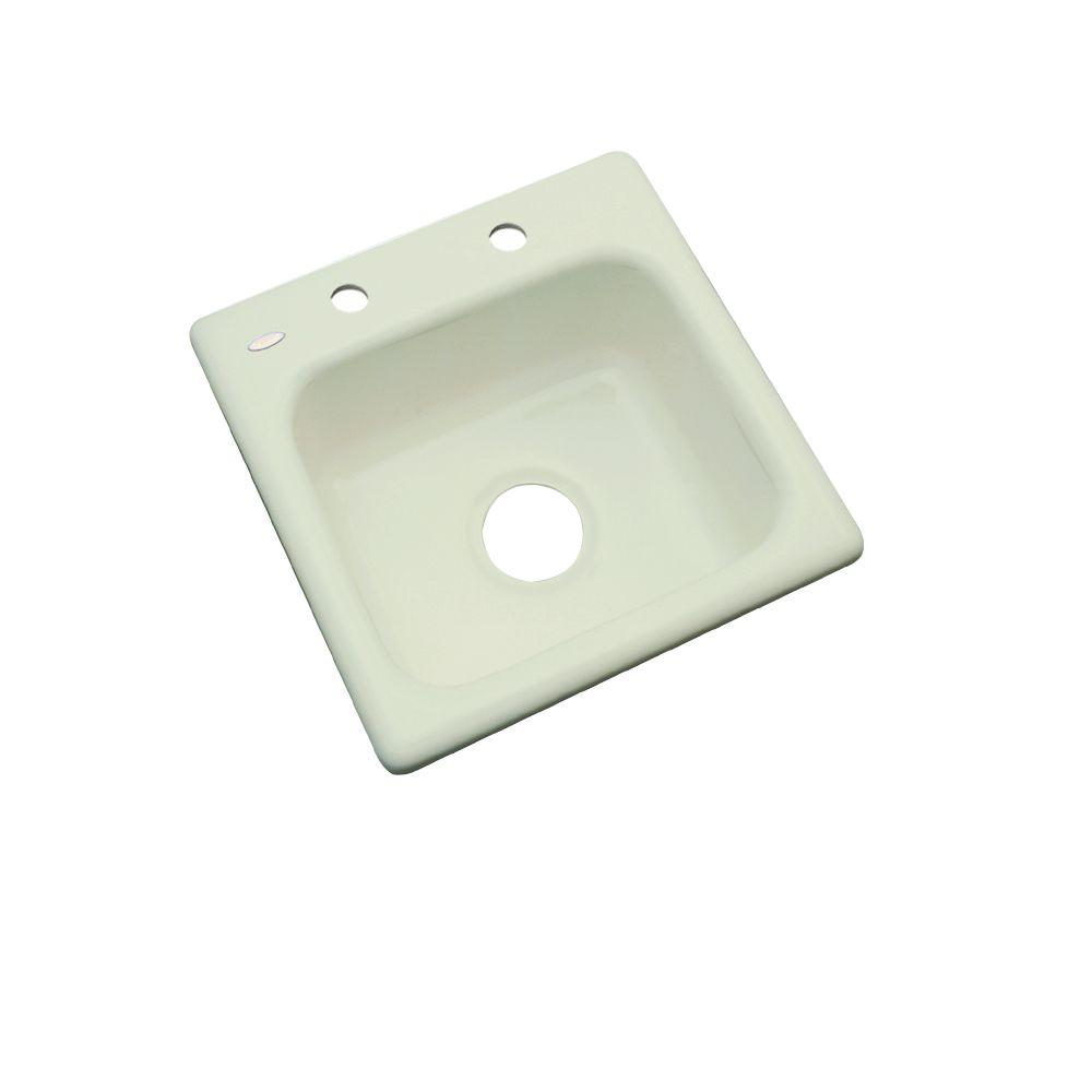 Manchester Drop-In Acrylic 16 in. 2-Hole Single Bowl Bar Sink in