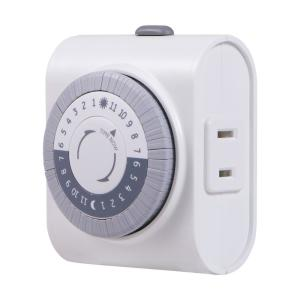 Ge 24 Hour Plug In Big Button Timer 15076 The Home Depot