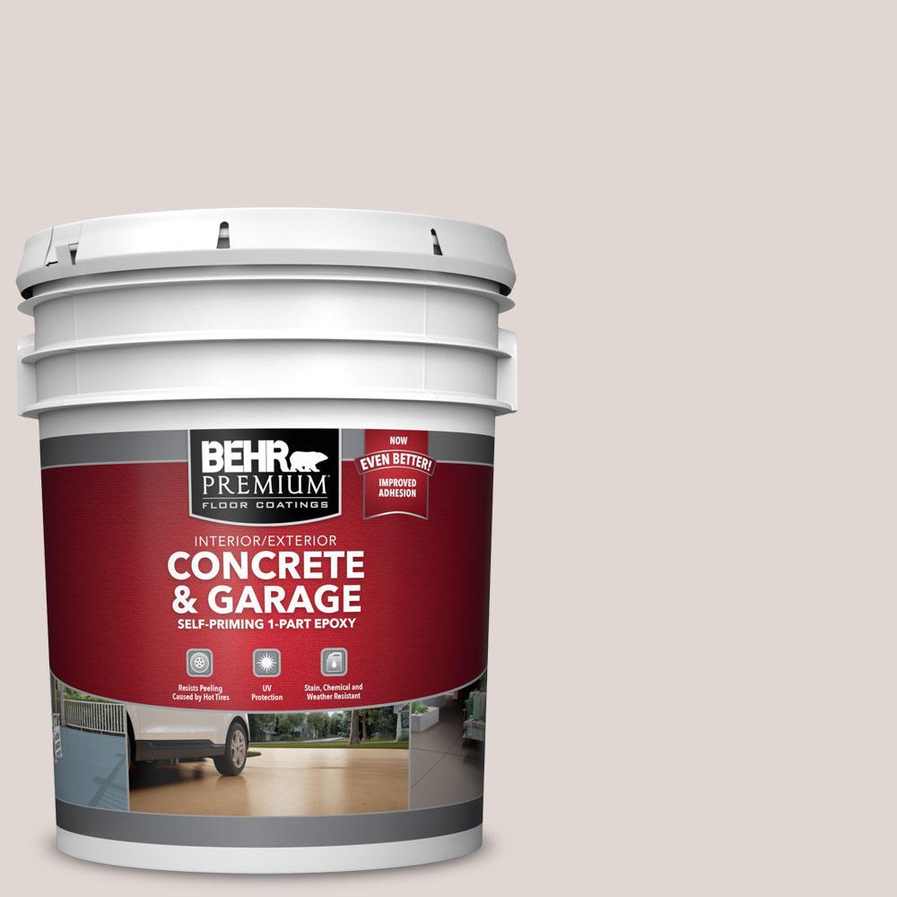 BEHR PREMIUM 5 gal. #N210-1 Taupe Tease Self-Priming 1-Part Epoxy Satin Interior/Exterior Concrete and Garage Floor Paint