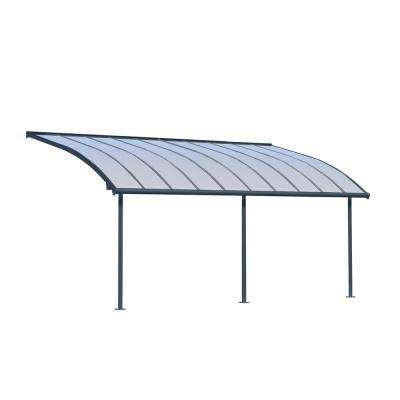 Joya 10 ft. x 20 ft. Grey Patio Cover Awning