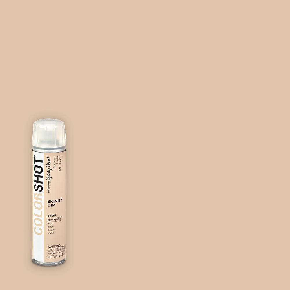 COLORSHOT 10 oz. Satin Skinny Dip Tan General Purpose Aerosol Spray Paint