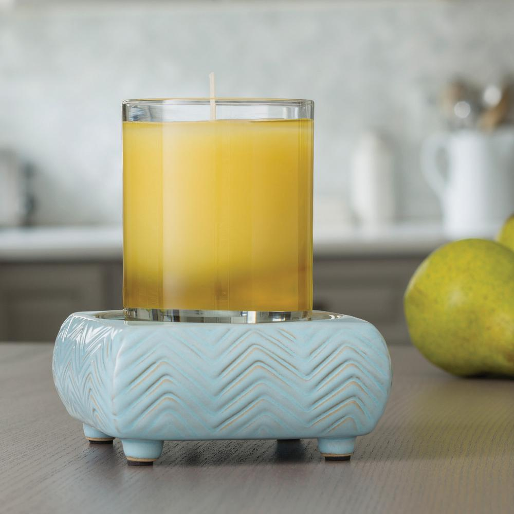 5.2 in Chevron 2-in-1 Classic Fragrance Warmer, Blue