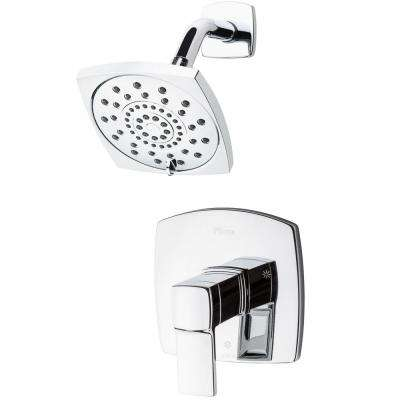 Deckard 1-Handle Shower Faucet Trim Kit in Polished Chrome (Valve Not Included)