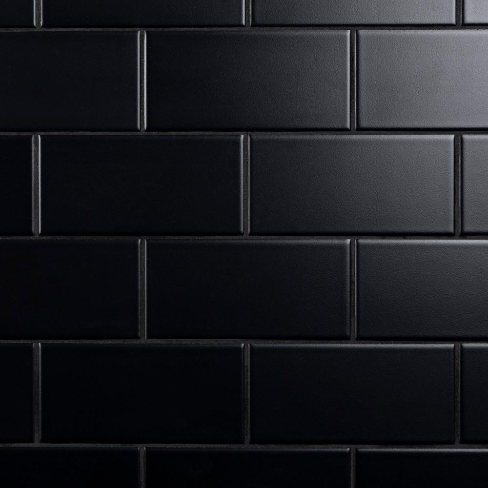 Black Backsplash Tile Flooring The Home Depot