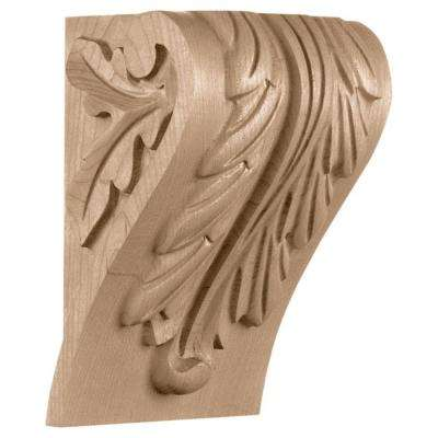5-1/4 in. x 4-1/2 in. x 7-1/3 in. Maple Small Block Acanthus Leaf Corbel