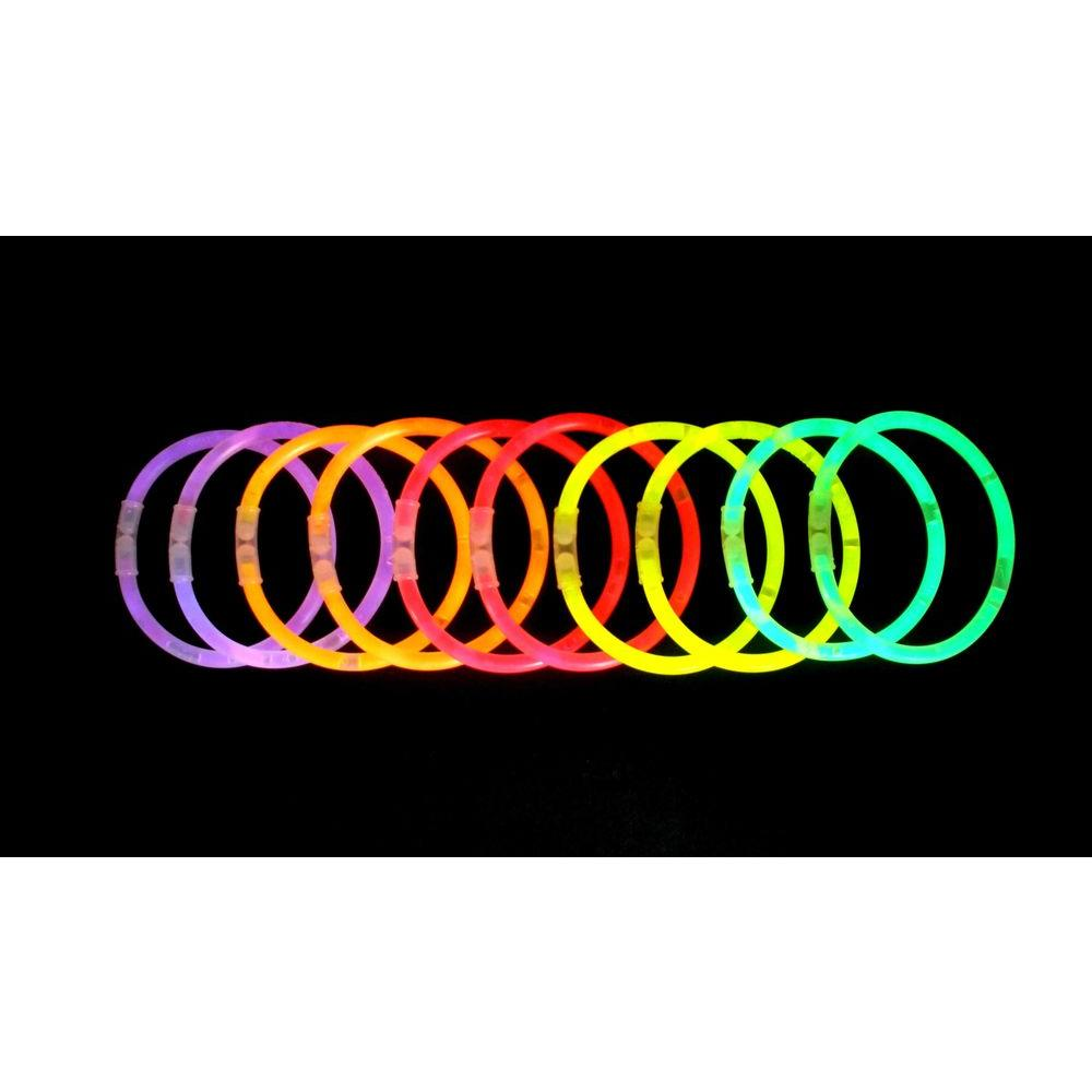 Home Accents Holiday 8 in. Glow Bracelets Assorted Colors (10-Pack)