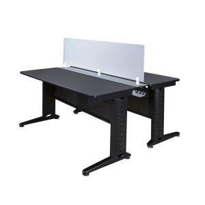 72 in. x 24 in. Fusion Grey Benching System with Privacy Panel