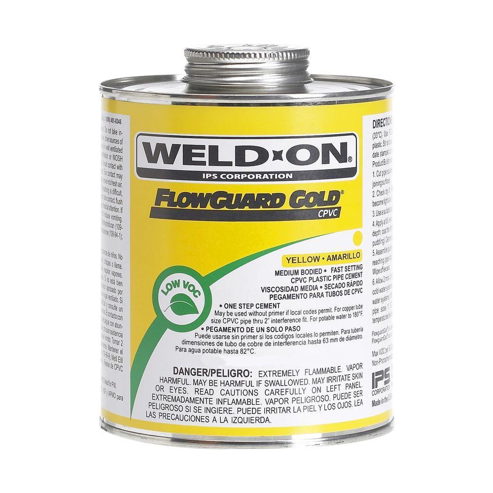 Weld-On FlowGuard-Gold 16 oz. CPVC Low VOC Cement (12-Pack)