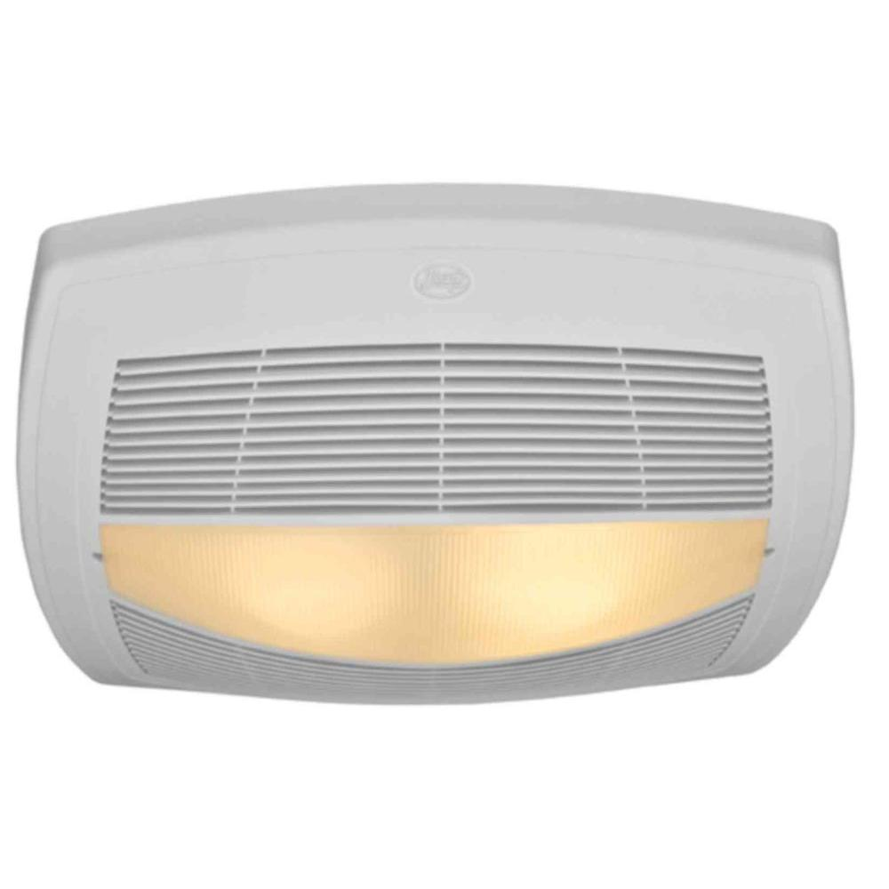 Hunter High Efficiency Decorative 70 CFM Ceiling Exhaust Bath Fan with light and Energy Efficient Bulbs