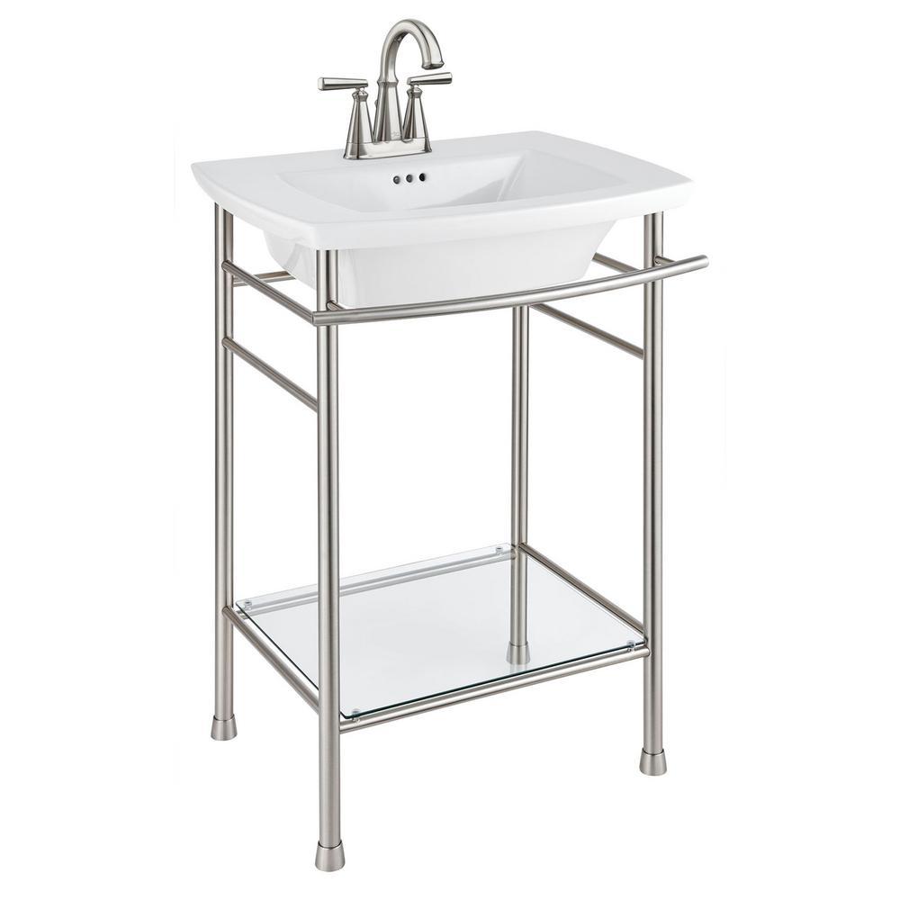 Edgemere 4 in. Pedestal Sink Basin in White