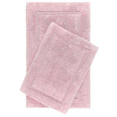 Newton Blush Racetrack 2-Piece (17 in. x 24 in.; 21 in. x 34 in.) Bath Mat Set
