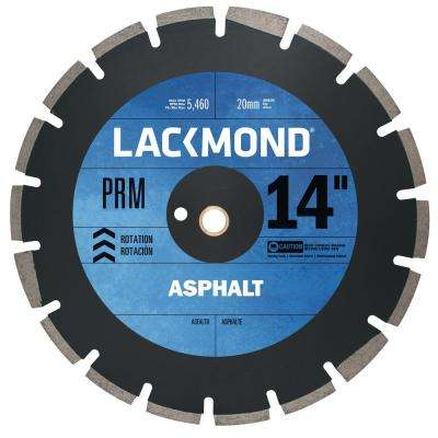 PRM Series Asphalt/Block Blade 14 in. x 0.125 in. - 20 mm Arbor
