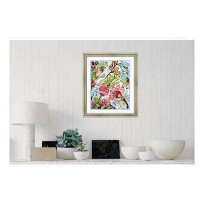 "24 in. H x 20 in. W ""Paper Birds I"" by ""Karen Fields "" Printed Framed Wall Art"