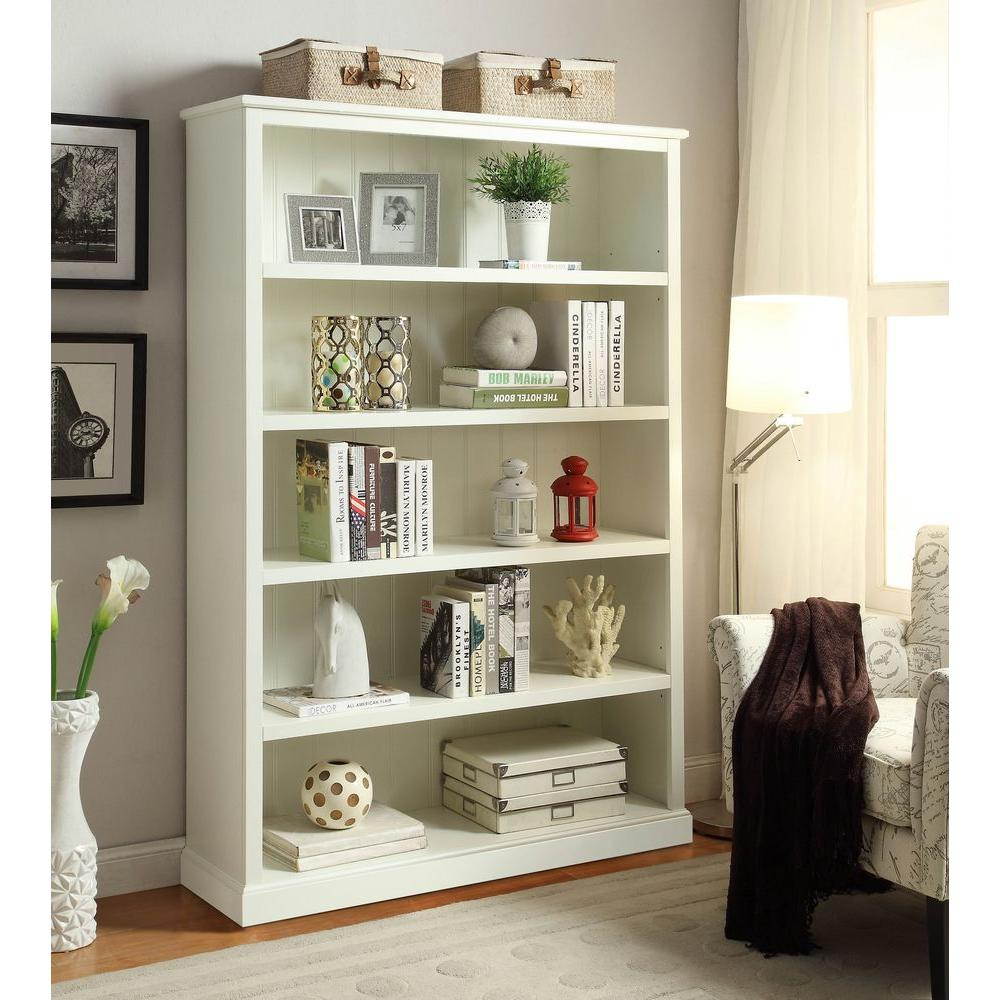 Home Decorators Collection Amelia White Open Bookcase