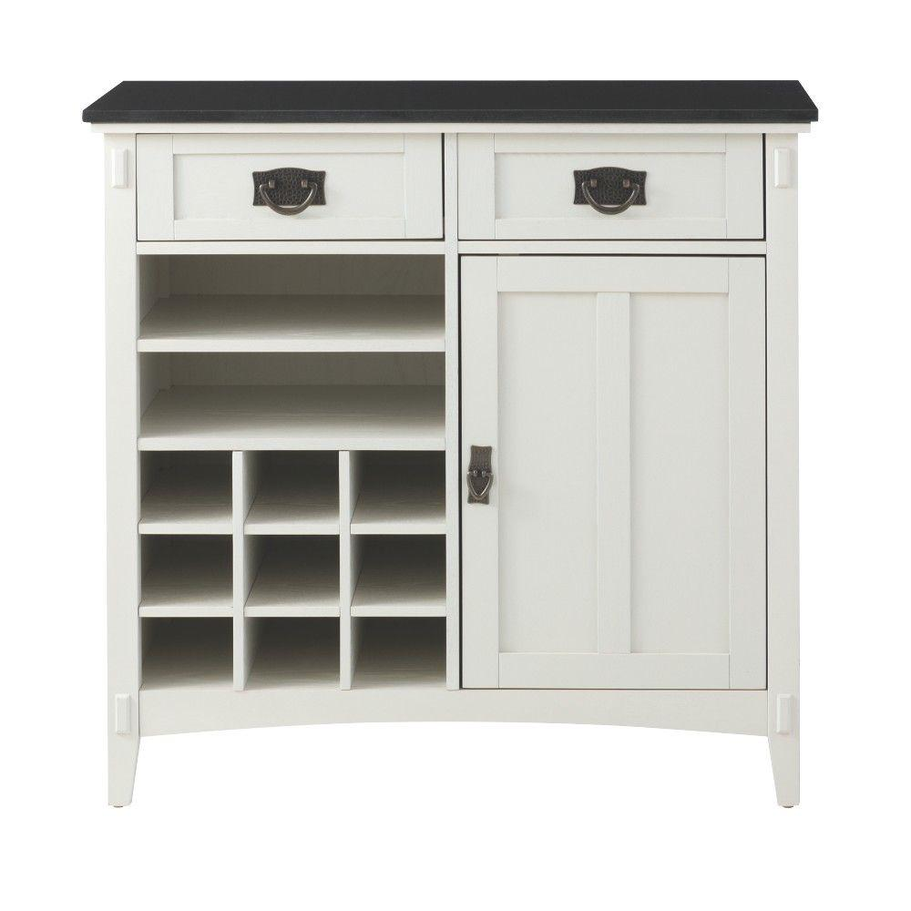Home Decorators Collection Artisan 36 in. W 2-Drawer Bar Cabinet in White