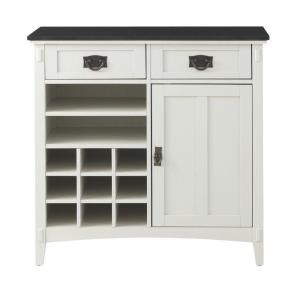 Home Decorators Collection Artisan 36 inch W 2-Drawer Kitchen Cart in White by Home Decorators Collection