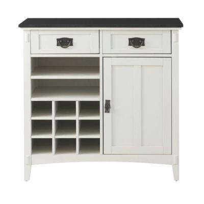 Artisan 36 in. W 2-Drawer Kitchen Cart in White
