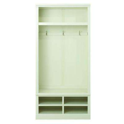 Shutter 74 in. H x 34.5 in. W x 18 in. D Modular Open Large Center Open Locker in Polar White