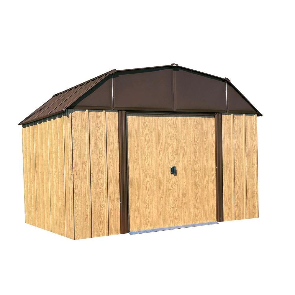 Arrow Woodview 10 ft. x 14 ft. Steel Storage Building-DISCONTINUED