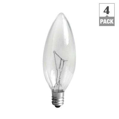 40-Watt Incandescent B10 Candelabra Base Double Life Multi-Use Decorative Light Bulb (4-Pack)
