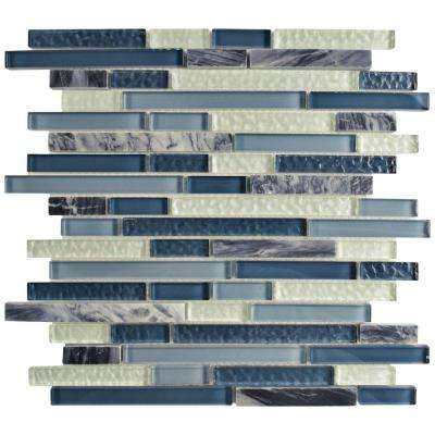 Tessera Piano Gulf 11-3/4 in. x 11-7/8 in. x 8 mm Glass and Stone Mosaic Tile