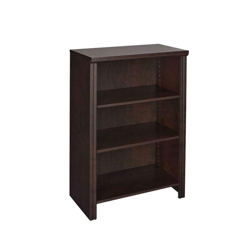 Impressions 14.57 in. x 25 in. Chocolate Laminate 4-Shelf Organizer