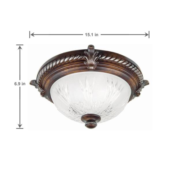 Light Volterra Bronze Flush