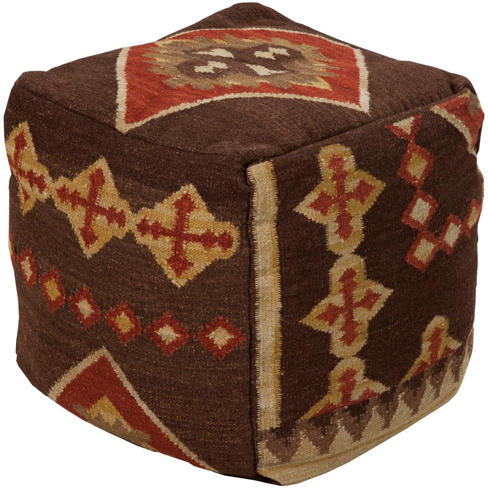 Artistic Weavers Thorburn Dark Brown Accent Pouf