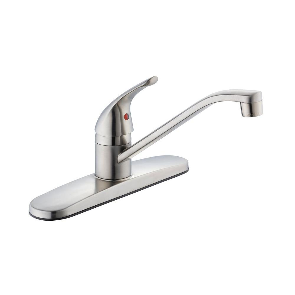 Glacier Bay Single-Handle Kitchen Faucet in Stainless Steel