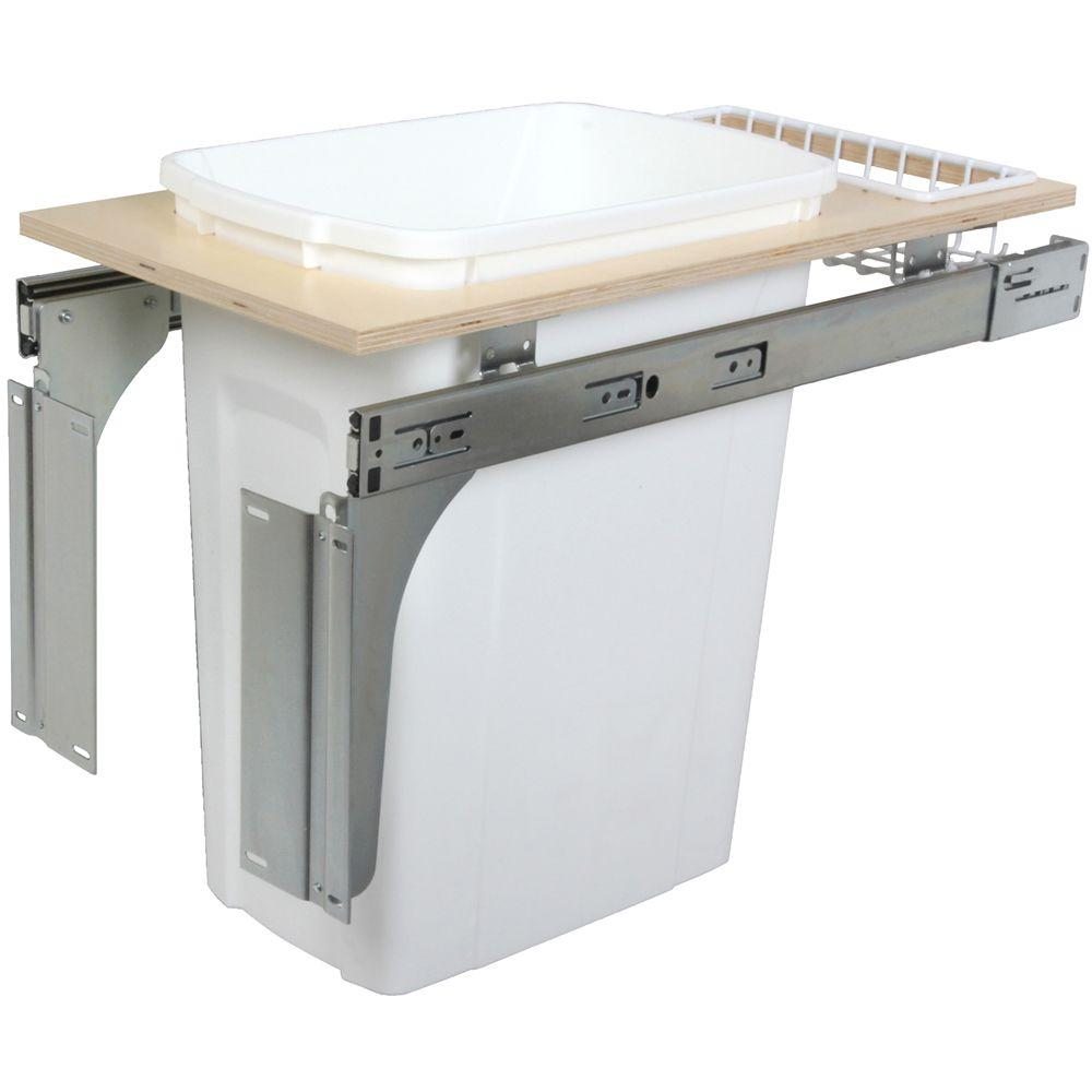 Knape & Vogt 17.5 in. x 11.5 in. x 22.5 in. In Cabinet Pull Out Top Mount Trash Can