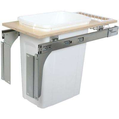 17.5 in. x 11.5 in. x 22.5 in. In Cabinet Pull Out Top Mount Trash Can
