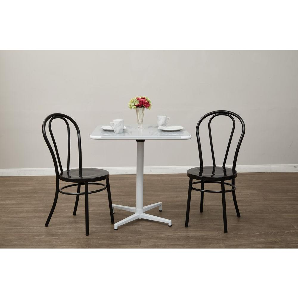 OSPdesigns Odessa Solid Black Metal Dining Chair (Set of 2)-OD2918A2 ...