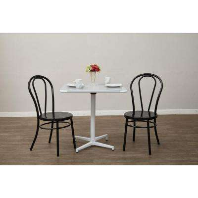 Odessa Solid Black Metal Dining Chair (Set of 2)