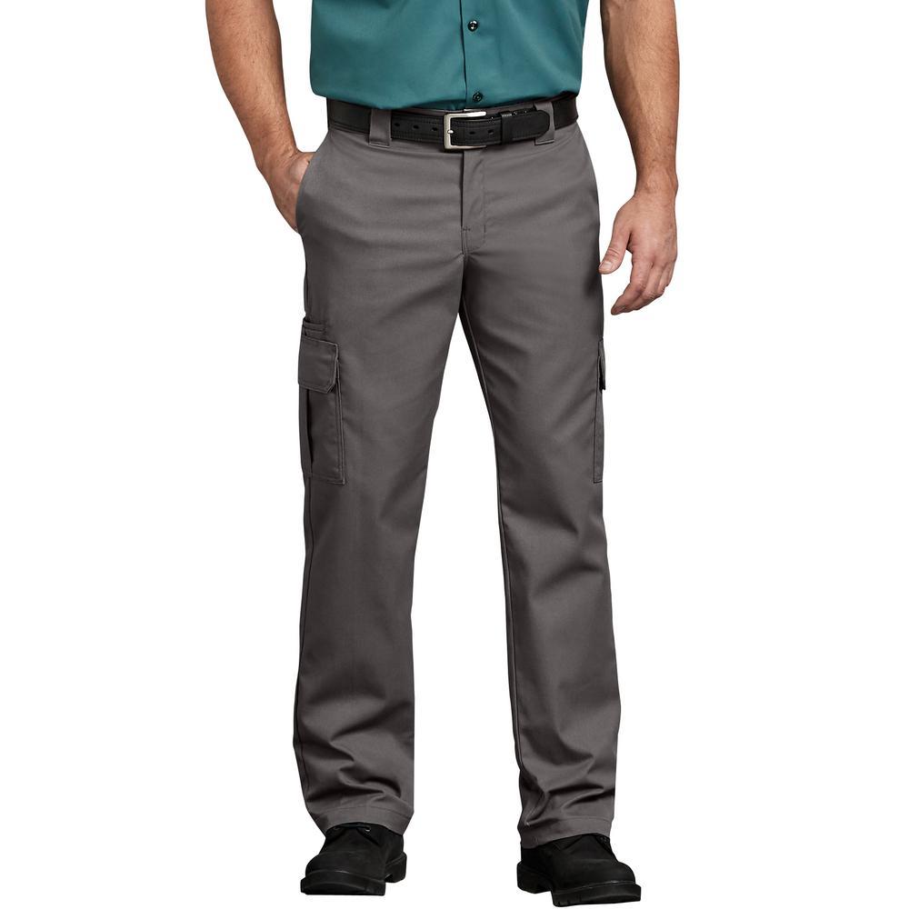 Men's Gravel Gray Flex Regular Fit Straight Leg Cargo Pant