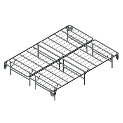 Malfoy Full Metal Silver Queen Folding Bed Frame