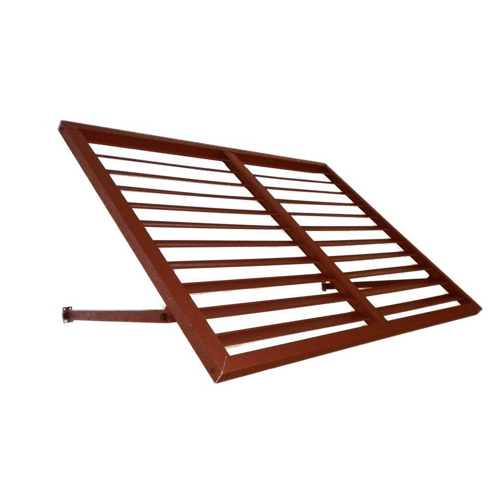 Beauty-Mark 6 ft. Bahama Metal Shutter Awning (24 in. H x 24 in. D) in Copper
