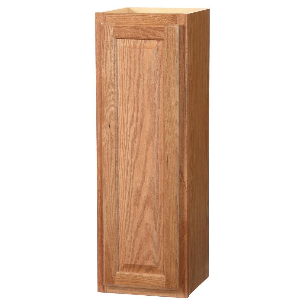 Hampton Assembled 12x36x12 in. Wall Kitchen Cabinet in Medium Oak