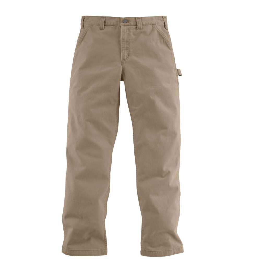 Men's 42x34 Dark Khaki Cotton Straight Leg Non-Denim Bottoms