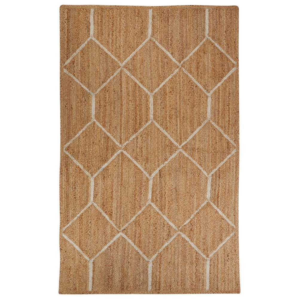 Natural Almond Buff 9 ft. x 12 ft. Tribal Area Rug, Almon...
