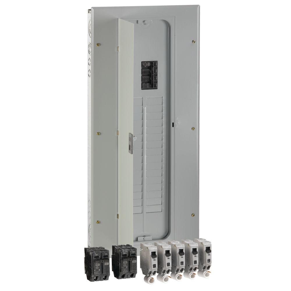 GE 200 Amp 32-Space 40-Circuit Main Breaker Indoor Load Center ...