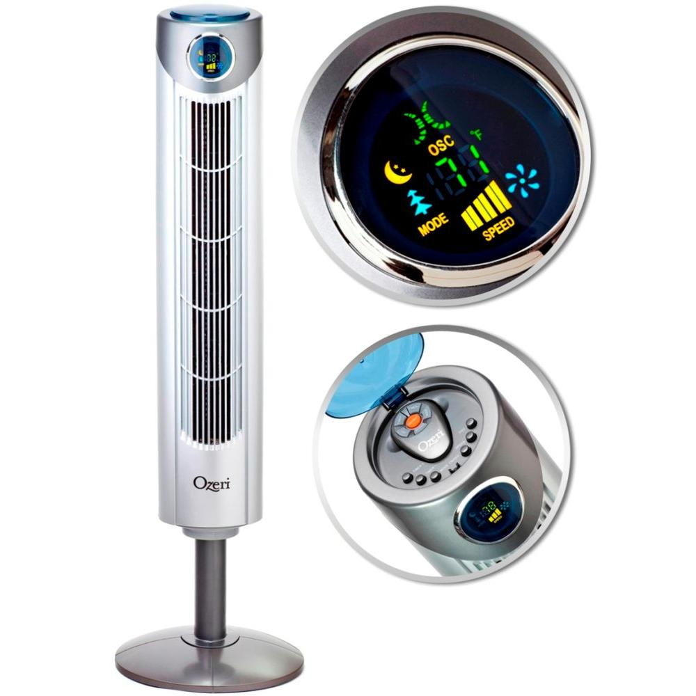 Ozeri Ultra 42 in. Wind Fan Adjustable Oscillating Tower Fan with Noise Reduction Technology