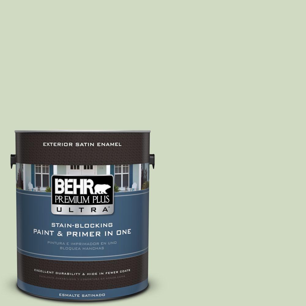 BEHR Premium Plus Ultra 1-gal. #M380-2 Glade Green Satin Enamel Exterior Paint