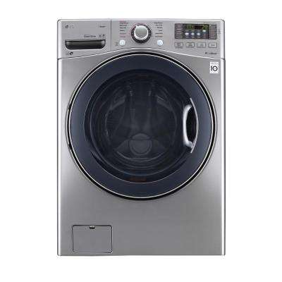 4.5 cu. ft. High-Efficiency Front Load Washer with Steam and TurboWash in Graphite Steel, ENERGY STAR