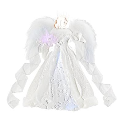 12 in. LED Angel Silver Tree Topper