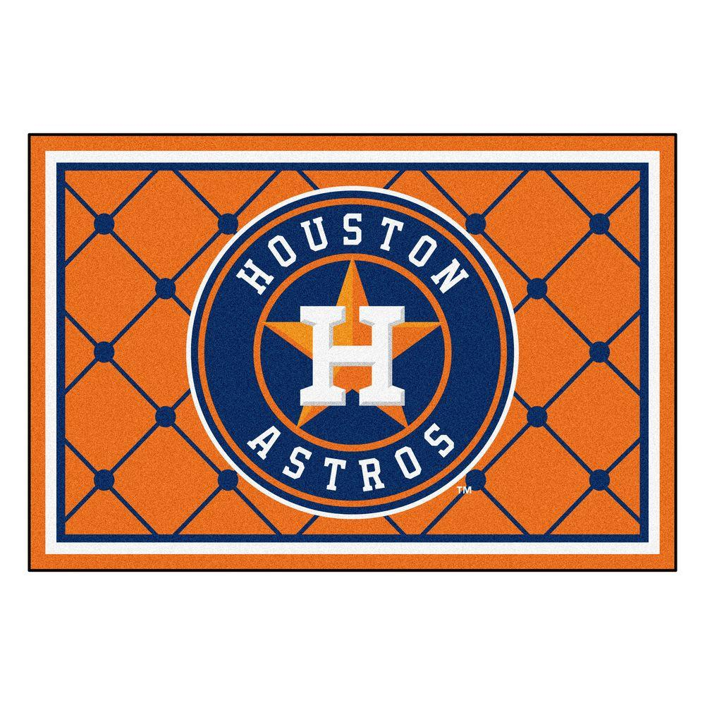 Fan Mats Houston Astros 5 ft. x 8 ft. Area Rug, Team Colors