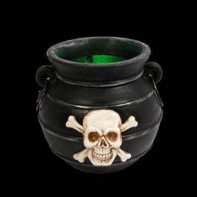 12.8 in. H Multi-Color Changing Illuminated Smoking Witches Cauldron