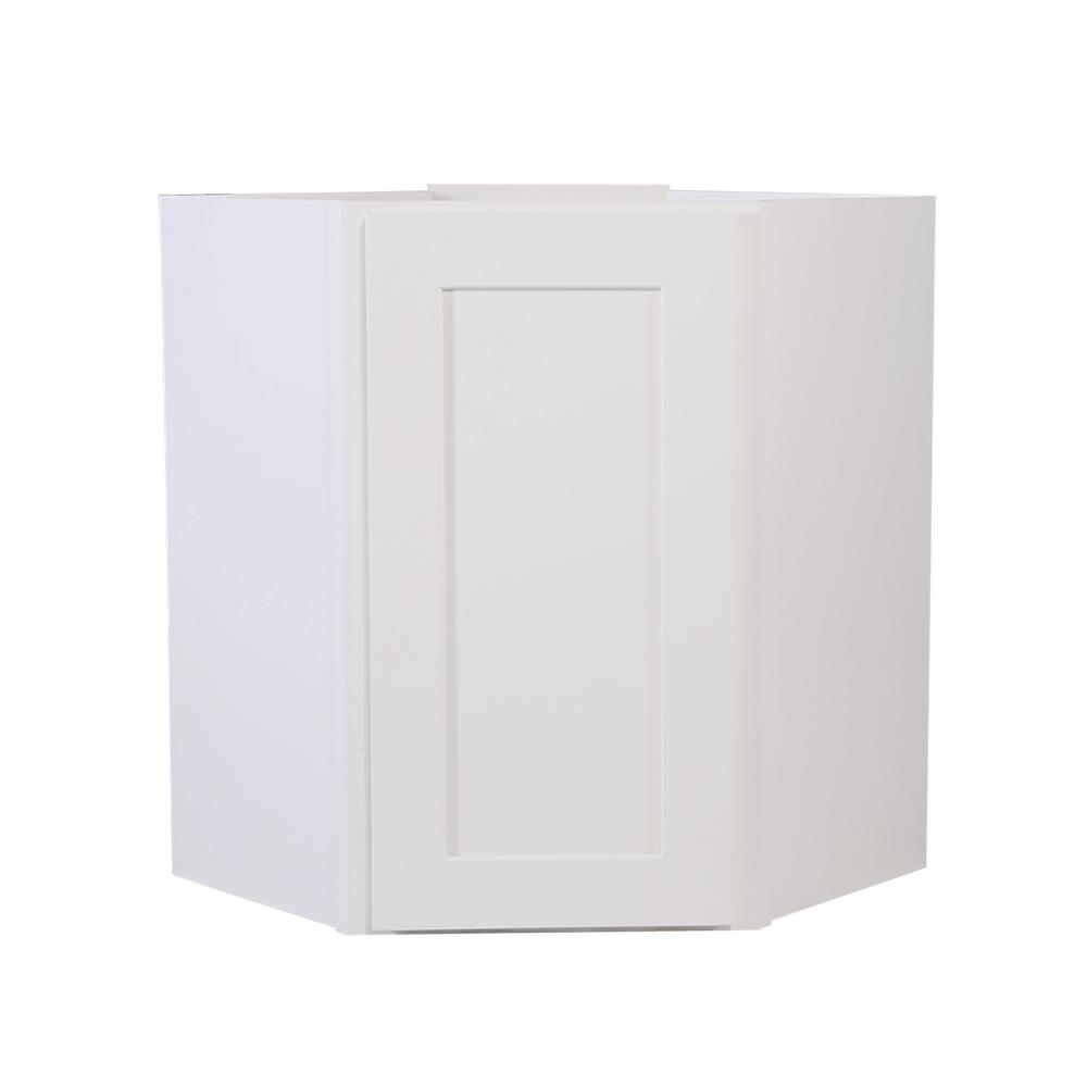 Design House Brookings Fully Assembled 24x30x12 in. Kitchen Corner Wall  Cabinet in White